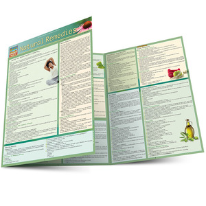Quick Study QuickStudy Natural Remedies Laminated Reference Guide BarCharts Publishing Health Guide Main Image