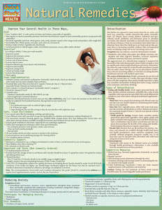 QuickStudy | Natural Remedies Laminated Reference Guide