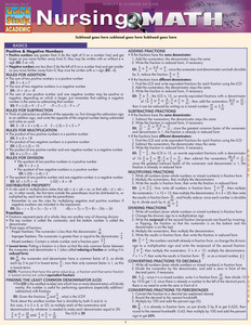 QuickStudy | Nursing Math Laminated Study Guide