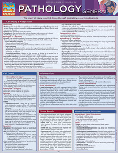Quick Study QuickStudy Pathology: General Laminated Study Guide BarCharts Publishing Medical Guide Cover Image
