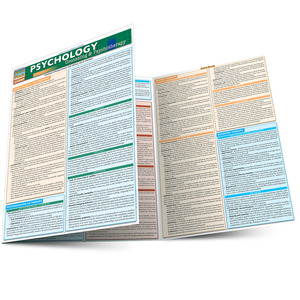 QuickStudy Quick Study Psychology Counseling Psychotherapy Laminated Study Guide BarCharts Reference Main Image