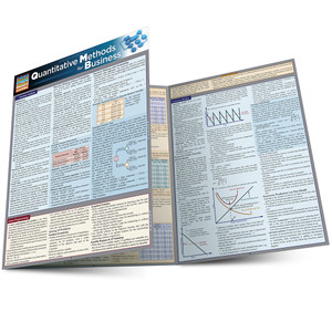 Quick Study QuickStudy Quantitative Methods for Business Laminated Study Guide BarCharts Publishing Main Image