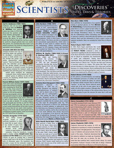 Quick Study QuickStudy Scientists Discoveries: Dates, Laws & Theories Laminated Study Guide BarCharts Publishing Science Reference Cover Image