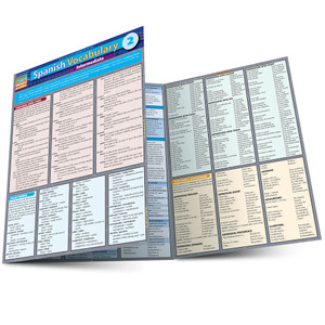 Quick Study QuickStudy Spanish Vocabulary 2: Intermediate Laminated Study Guide BarCharts Publishing Foreign Language Reference Main Image
