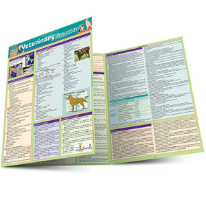 Quick Study QuickStudy Veterinary Assistant Laminated Study Guide BarCharts Publishing Vet Assistant Main Image