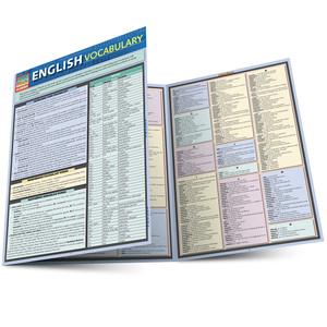 Quick Study QuickStudy English Vocabulary Laminated Study Guide BarCharts Publishing Language Guide Main Image