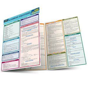 Quick Study QuickStudy Algebraic Equations Quizzer Laminated Study Guide BarCharts Publishing Reference Main Image