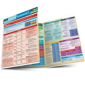 Quick Study QuickStudy English Fundamentals 1 Quizzer Laminated Study Guide BarCharts Publishing Language Arts Study Outline Main Image