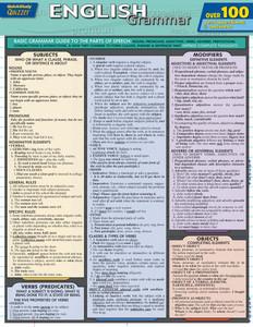 QuickStudy | English Grammar Quizzer Laminated Study Guide