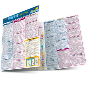 QuickStudy | Math Review Quizzer Laminated Study Guide