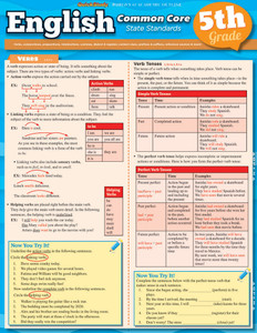 Quick Study QuickStudy English Common Core 5th Grade Laminated Study Guide BarCharts Publishing Inc Cover Image