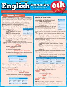 QuickStudy | English: Common Core - 6th Grade Laminated Study Guide