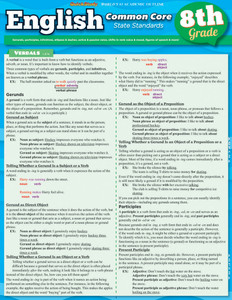 QuickStudy | English: Common Core - 8th Grade Laminated Study Guide