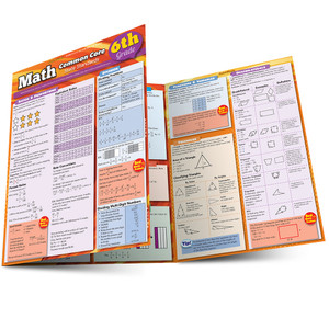 QuickStudy | Math: Common Core 6th Grade Laminated Study Guide