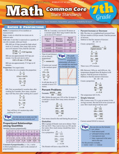 QuickStudy | Math: Common Core 7th Grade Laminated Study Guide