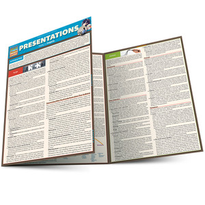 Quick Study QuickStudy Presentations Laminated Reference Guide BarCharts Publishing Business Education Guide Main Image