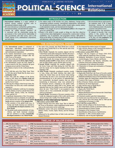 Quick Study QuickStudy Political Science: International Relations Laminated Study Guide BarCharts Cover Image