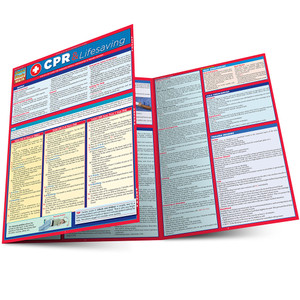 QuickStudy Quick Study CPR Lifesaving Laminated Study Guide BarCharts Publishing Inc Reference Guide Main Image