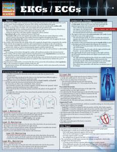 Quick Study QuickStudy EKGs / ECGs Laminated Study Guide BarCharts Publishing Inc EKG ECG Reference Cover Image