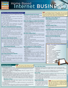 Quick Study QuickStudy Home-Based Internet Business Laminated Reference Guide BarCharts Publishing Career Education Guide Cover Image