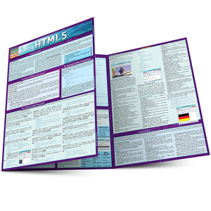 Quick Study QuickStudy HTML5 Laminated Study Guide BarCharts Publishing Computer Reference Guide Main Image