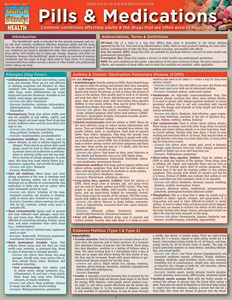 QuickStudy Quick Study Pills & Medications Laminated Reference Guide BarCharts Publishing Medical Cover Image