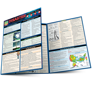 Quick Study QuickStudy Disaster Preparedness Laminated Reference Guide BarCharts Publishing Prevention Education Guide Main Image