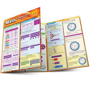 Quick Study QuickStudy Moth Common Core 1st Grade Laminated Study Guide BarCharts Publishing Mathematics Guide Main Image