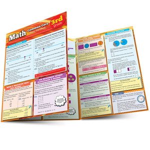QuickStudy | Math: Common Core 3rd Grade Laminated Study Guide