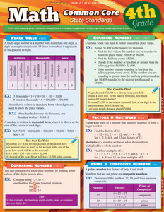 QuickStudy | Math: Common Core 4th Grade Laminated Study Guide