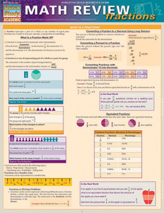 Quick Study QuickStudy Math Review: Fractions Laminated Study Guide BarCharts Publishing Math Guide Cover Image
