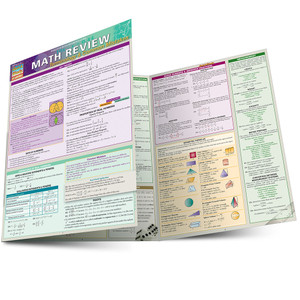 Quick Study QuickStudy Math Review: Terminology & Common Mistakes Laminated Study Guide BarCharts Publishing Business Mathematic Reference Guide Main Image