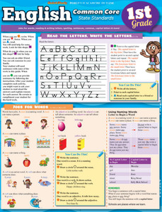 QuickStudy | English: Common Core - 1st Grade Laminated Study Guide