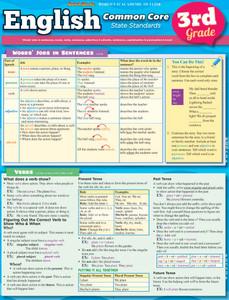 QuickStudy | English: Common Core - 3rd Grade Laminated Study Guide
