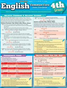 QuickStudy   English: Common Core 4th Grade Laminated Study Guide