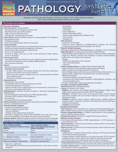 QuickStudy | Pathology: Systemic 2 Laminated Study Guide