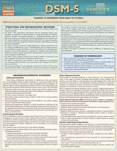 Quick Study QuickStudy DSM-5 Overview of DSM-4 Changes Laminated Study Guide BarCharts Publishing Clinical Psychology Reference Cover Image