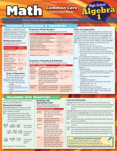 QuickStudy | Math: Common Core Algebra 1 - 9Th Grade Laminated Study Guide