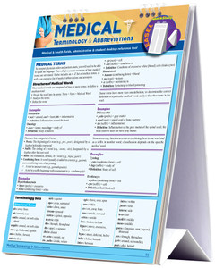 QuickStudy | Medical Terminology & Abbreviations Easel