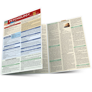 Quick Study QuickStudy Psychology Abnormal Laminated Study Guide BarCharts Publishing Social Science Main Image