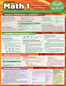 QuickStudy | Math 1: Common Core - 9th Grade Laminated Study Guide