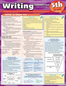 QuickStudy   Writing: Common Core - 5Th Grade Laminated Study Guide