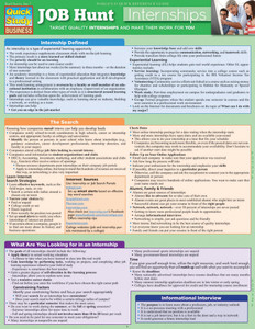 Quick Study QuickStudy Job Hunt: Internships Laminated Reference Guide BarCharts Publishing Career Outline Cover Image