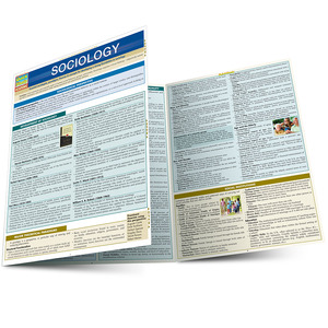 Quick Study QuickStudy Sociology Laminated Study Guide BarCharts Publishing Social Science Guide Main Image