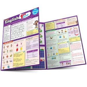 Quick Study QuickStudy English: 1st Grade Laminated Study Guide BarCharts Publishing Grade School Education Reference Main Image