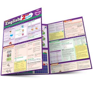 Quick Study QuickStudy English: 2nd Grade Laminated Study Guide BarCharts Publishing Grade School Academics Reference Main Image