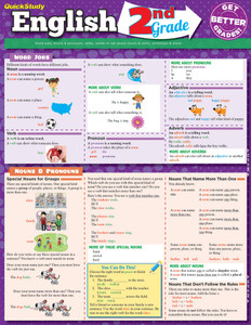 Quick Study QuickStudy English: 2nd Grade Laminated Study Guide BarCharts Publishing Grade School Academics Reference Cover Image