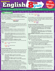 QuickStudy | English: 8th Grade Laminated Study Guide