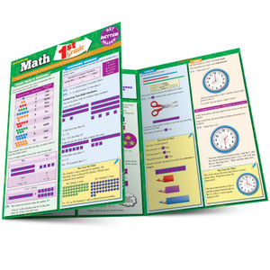 Quick Study QuickStudy Math: 1st Grade Laminated Study Guide BarCharts Publishing Mathematics Study Outline Main Image