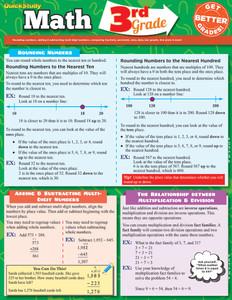 QuickStudy | Math: 3rd Grade Laminated Study Guide